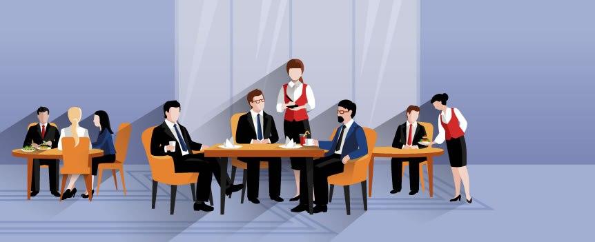 Cómo ganarse a los clientes en una comida de negocios